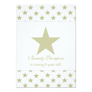 Gold Star Party Invitations