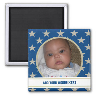 Gold Star: Personalized Picture Magnet