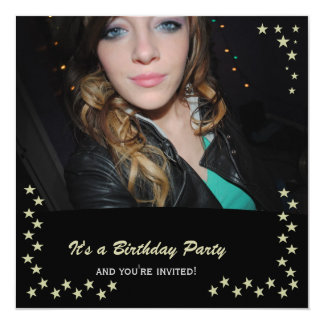 Gold Star: Picture Party Invitations