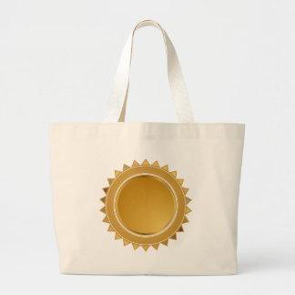 Gold Star Seal Medal Jumbo Tote Bag
