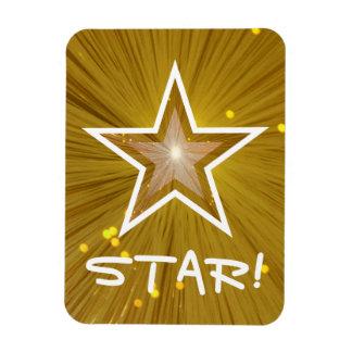 """Gold"" Star 'STAR!' flexible magnet"
