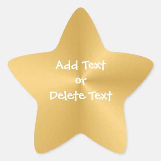 Gold Star Star Sticker
