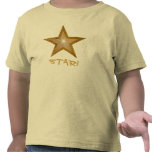 """Gold"" Star 'STAR!' toddler  t-shirt yellow"
