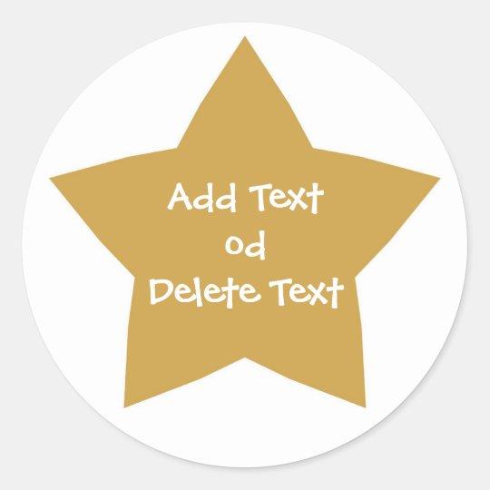 Gold Star Sticker