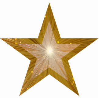 Gold Star 'two tone' Christmas ornament