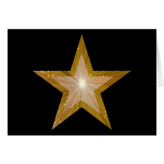 Gold Star two tone 'Congratulations!' card black