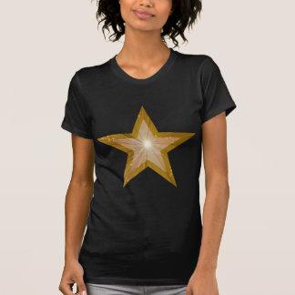 """Gold"" Star 'two tone' ladies t -shirt black"