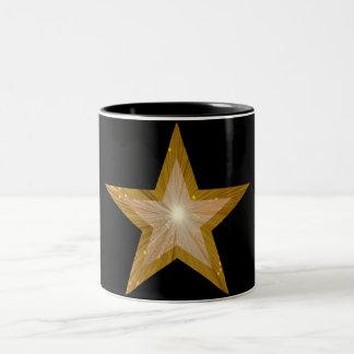 Gold Star  two tone mug black