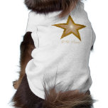 Gold Star 'two tone' 'pup star' text dog tank top Pet Tshirt