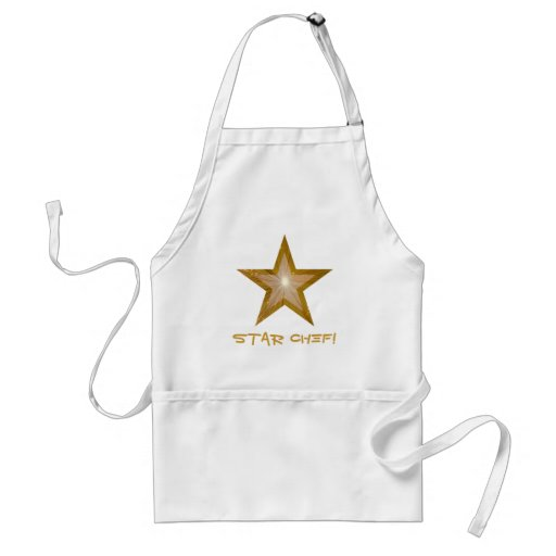 Gold Star 'two tone'  'STAR CHEF!' apron