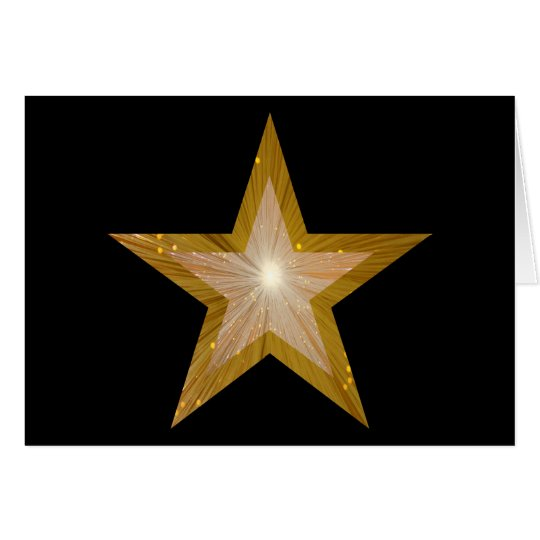 Gold Star two tone 'Well Done' card black