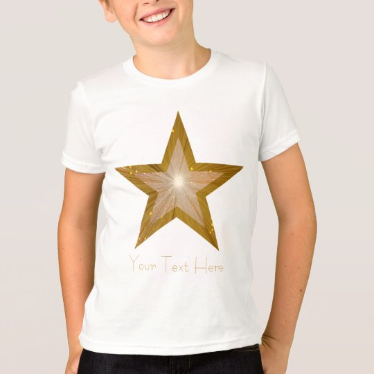 """""""Gold Star"""" 'two tone' 'Your Text' kids t -shirt T-Shirt"""