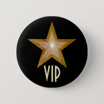 """Gold"" Star 'VIP' button black"