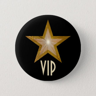 """Gold"" Star 'VIP' button black"