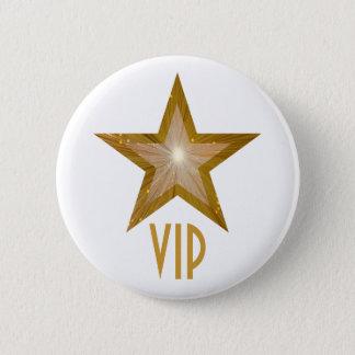 """Gold"" Star 'VIP' button white"