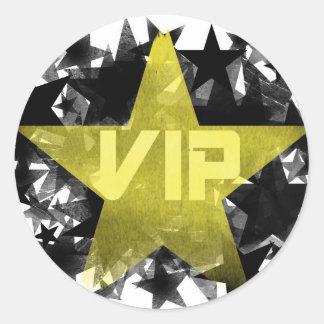 Gold Star VIP Classic Round Sticker