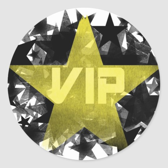 Gold Star VIP Classic Round Sticker