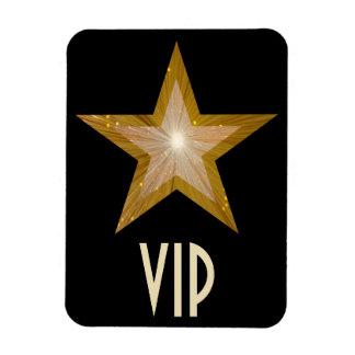 """""""Gold"""" Star 'VIP' flexible magnet black"""