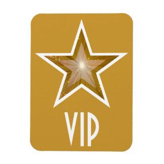 """Gold"" Star 'VIP' flexible magnet gold"