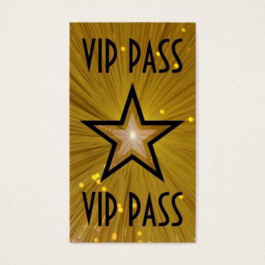 gold star 39 vip pass 39 business card black back. Black Bedroom Furniture Sets. Home Design Ideas