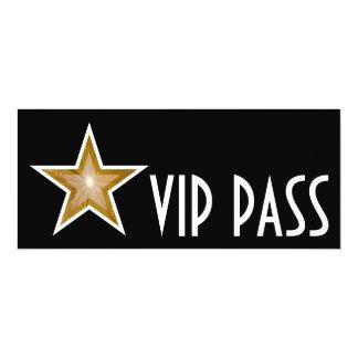 Gold Star 'VIP PASS' invitation black long
