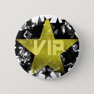 Gold Star VIP Pinback Button