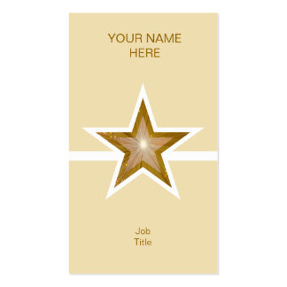 Gold Star white line business card cream vertical