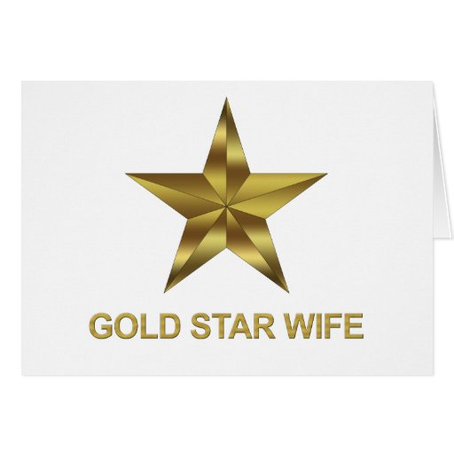 Gold Star Wife Greeting Card