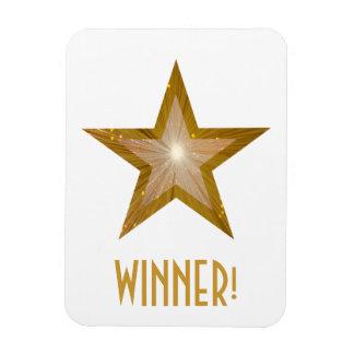 """""""Gold"""" Star 'Winner!' flexible magnet white Flexible Magnets"""