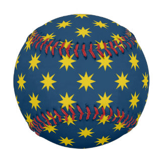 Gold Star with Navy Background Baseball