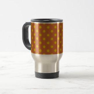 Gold Star with Orange Background Travel Mug