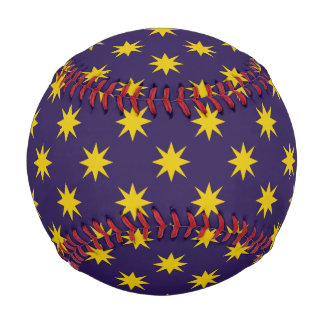 Gold Star with Royal Purple Background Baseball