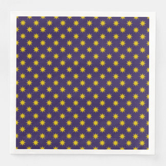 Gold Star with Royal Purple Background Paper Dinner Napkin