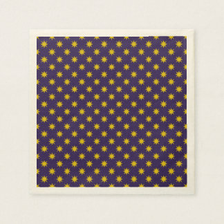 Gold Star with Royal Purple Background Paper Napkin