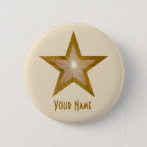 """Gold"" Star 'Your Name' button cream"
