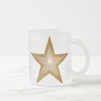 Gold Star  'Your Text' two tone mug white