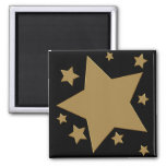 Gold Stars 2 Inch Square Magnet