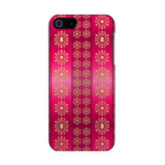 Gold Stars and Moon Pink Fuchsia Stripe Pattern Metallic iPhone SE/5/5s Case