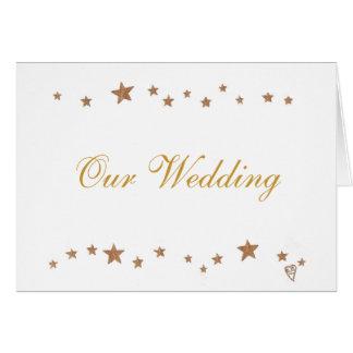 Gold Stars Border, Wedding Invitation Cards