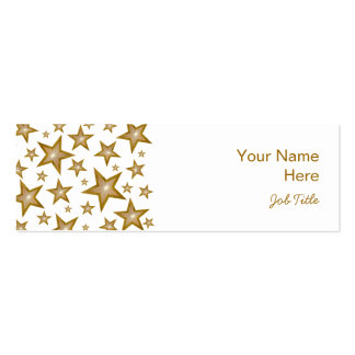 Gold Stars business card side white skinny