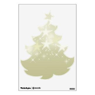 Gold Stars Christmas Tree Wall Decal