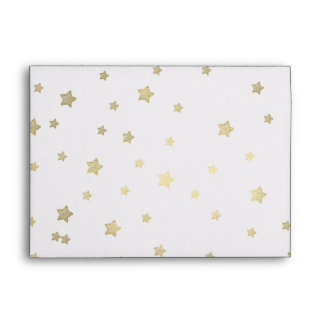 Gold Stars Envelope