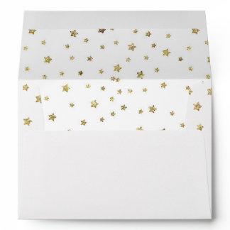 Gold Stars Envelope