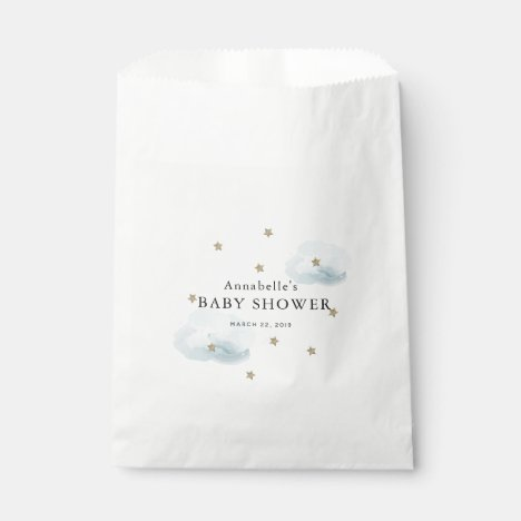 Gold Stars & Fluffy Clouds Baby Shower Favor Bags