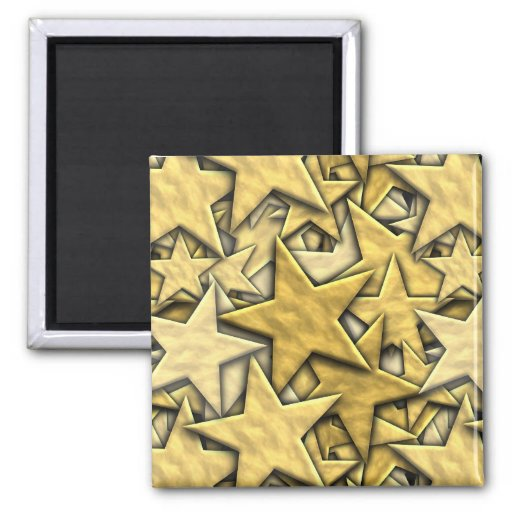 Gold Stars Fridge Magnets