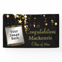 Gold Stars Graduation Sign w/ Photo