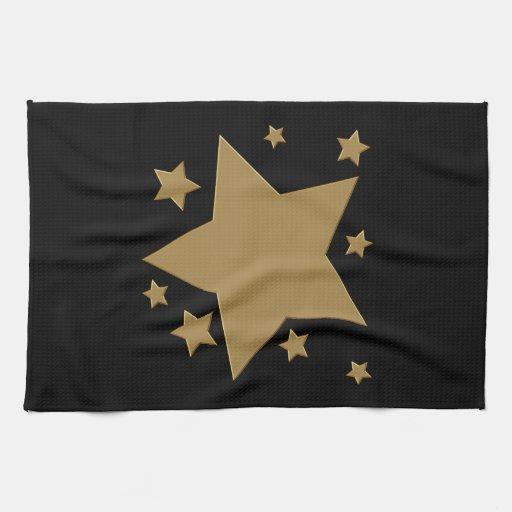 Gold Stars Hand Towel