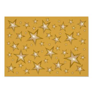 "Gold Stars invitation 5"" X 7"" Invitation Card"