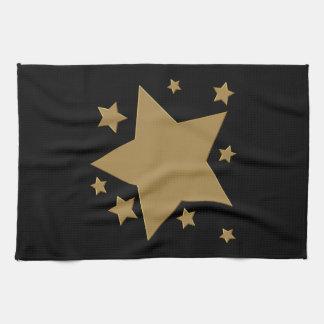Gold Stars Kitchen Towels