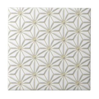 gold stars light ceramic tile